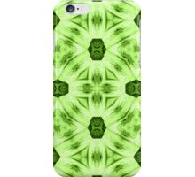 Green abstract modern trendy cool pattern iPhone Case/Skin