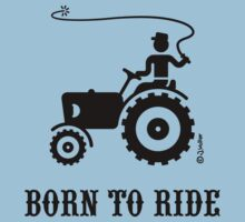 Born To Ride (Tractor / Black) Kids Clothes