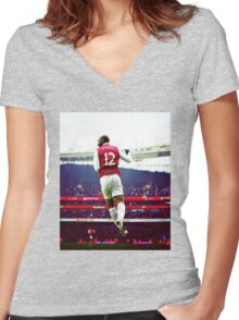 Thierry Henry Stadium View Women's Fitted V-Neck T-Shirt