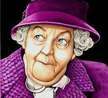 Margaret Rutherford plays Miss Jane Marple by Margaret Sanderson