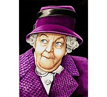 Margaret Rutherford plays Miss Jane Marple Photographic Print