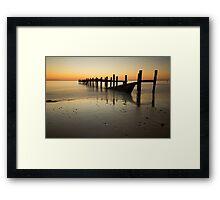 Happisburgh-sunrise Framed Print