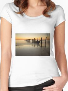 Happisburgh-sunrise Women's Fitted Scoop T-Shirt