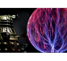Dalek pushing a plasma ball around! Photographic Print