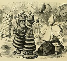 Through the Looking Glass Lewis Carroll art John Tenniel 1872 0034 Castles King Queen by wetdryvac