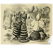 Through the Looking Glass Lewis Carroll art John Tenniel 1872 0034 Castles King Queen Poster