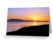 Sunset at Inch, Co. Kerry, Ireland Greeting Card