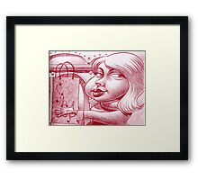 Shopping after the holidays Framed Print