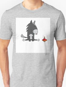 Wolf and spinning top. T-Shirt