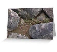 Nature's whimsey along the shore of Lake Augusta. Greeting Card
