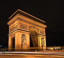 Paris, Arc de Triomphe by Christophe Faugere