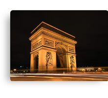 Paris, Arc de Triomphe Canvas Print