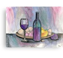 Scene From An Italian Restaurant Canvas Print