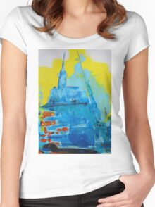 Abstract 03 Women's Fitted Scoop T-Shirt