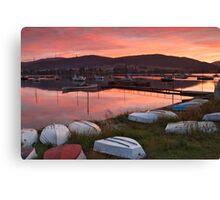 Sunrise at Cygnet Sailing Club Canvas Print