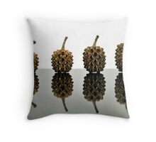 Cypress Seed Pods Throw Pillow