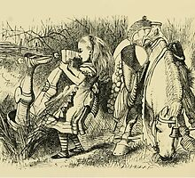 Through the Looking Glass Lewis Carroll art John Tenniel 1872 0192 Knight Dragged Out by Feet by wetdryvac