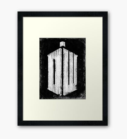 Doctor Who Grunge Framed Print