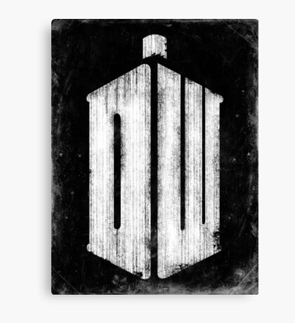 Doctor Who Grunge Canvas Print