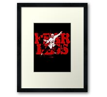 Fearless (with caption)  Framed Print