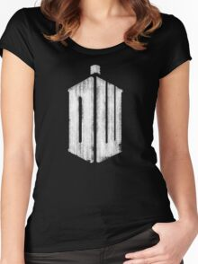 Doctor Who Grunge Women's Fitted Scoop T-Shirt