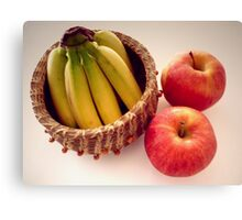 """""""Tiny Fruit In A Basket"""" Canvas Print"""