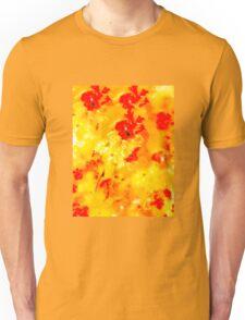 Hibiscus Impressionist Series - Orange Unisex T-Shirt