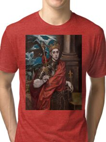 Saint Louis IX, King of France Tri-blend T-Shirt