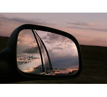 Texas in Your Rear View Mirror Photographic Print