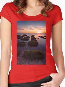 Hunstanton sunset Women's Fitted Scoop T-Shirt