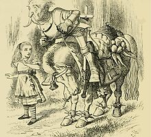 Through the Looking Glass Lewis Carroll art John Tenniel 1872 0186 The Knight by wetdryvac