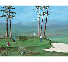 Golfers Photographic Print