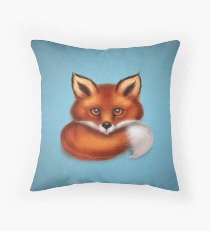 The Fox's Tail Throw Pillow