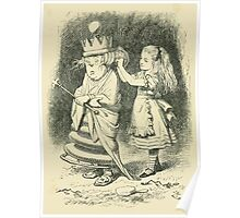 Through the Looking Glass Lewis Carroll art John Tenniel 1872 0113 What a State your Hair is In Poster