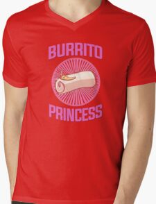 Burrito Princess Mens V-Neck T-Shirt