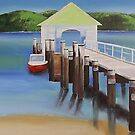 """Palm Beach Wharf"" Northern Beaches by Taniakay"