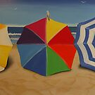 """Beach Umbrellas""  by Taniakay"
