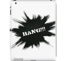 Black Painted Explosion with Bang Word iPad Case/Skin
