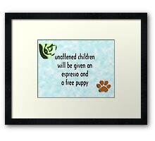 Unattended children Framed Print