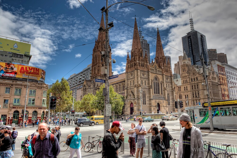 Happy Australia Day • Flinders Street • Melbourne by William Bullimore