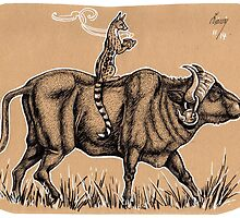 Waterbuffalo & Genet - Teatime by SaraLutra