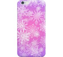 Chaotic Snowflakes on Lilac Background iPhone Case/Skin