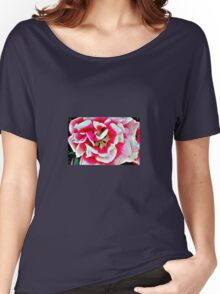 Pink and White Blossom Women's Relaxed Fit T-Shirt