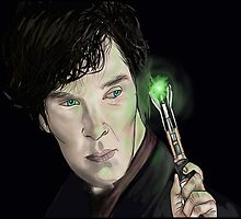 Wholock  Benedict Cumberbatch & Sonic Screwdriver by Mollie Gunning