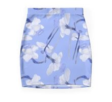 Narcissus light blue pattern Mini Skirt