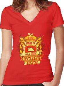 A Little Werewolf Oven! Women's Fitted V-Neck T-Shirt