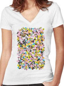 Lots of Liquorice Allsorts Women's Fitted V-Neck T-Shirt