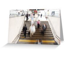 Hustle and Bustle @ Tokyo Station Greeting Card