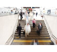 Hustle and Bustle @ Tokyo Station Photographic Print