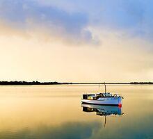 Golden dawn on the Murray by Robert Dettman